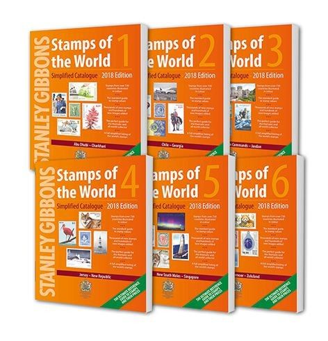 2018 Stamps of the World (Set of 6 Catalogues)